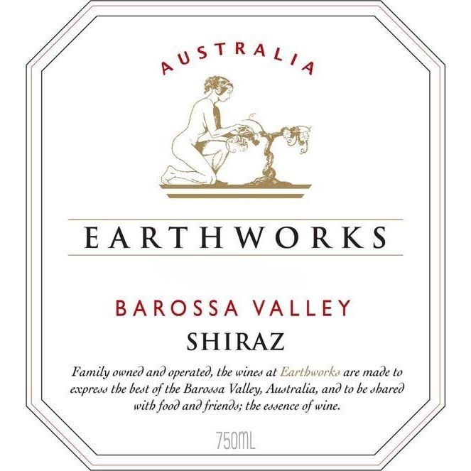 Earthworks Shiraz 2014 Front Label
