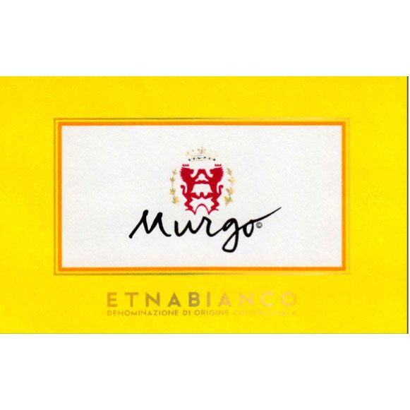 Murgo Etna Bianco 2015 Front Label