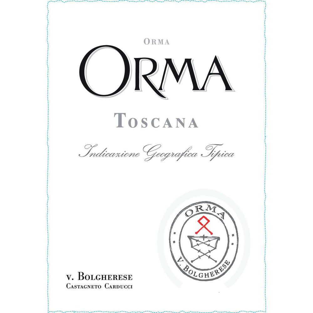 Orma Toscana 2012 Front Label