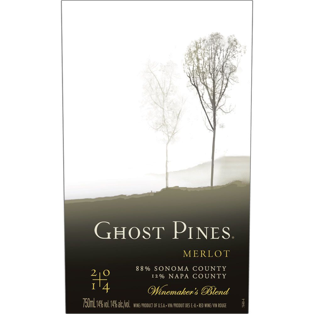 Ghost Pines Merlot 2014 Front Label