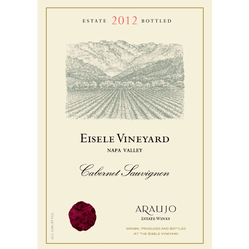 Araujo Eisele Vineyard Cabernet Sauvignon (375ML half-bottle) 2012 Front Label