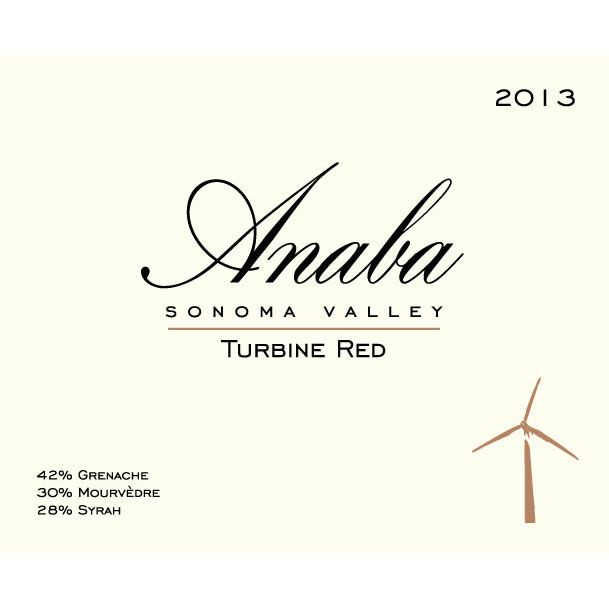 Anaba Turbine Red 2013 Front Label