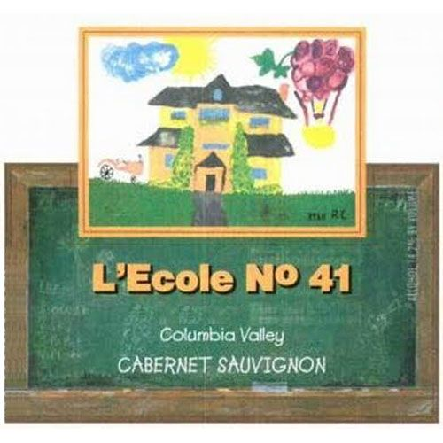 L'Ecole 41 Columbia Valley Cabernet Sauvignon (375ML half-bottle) 2001 Front Label