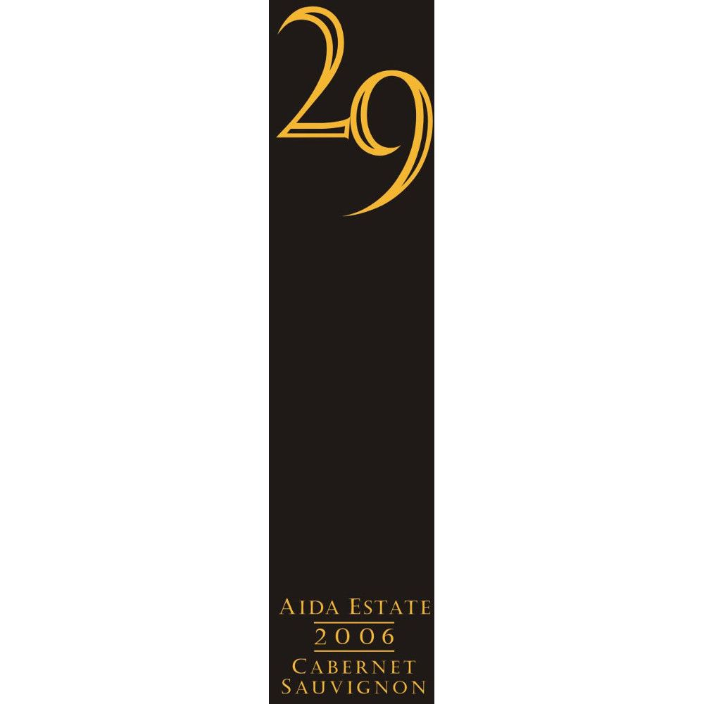 Vineyard 29 Aida Estate Cabernet Sauvignon 2006 Front Label