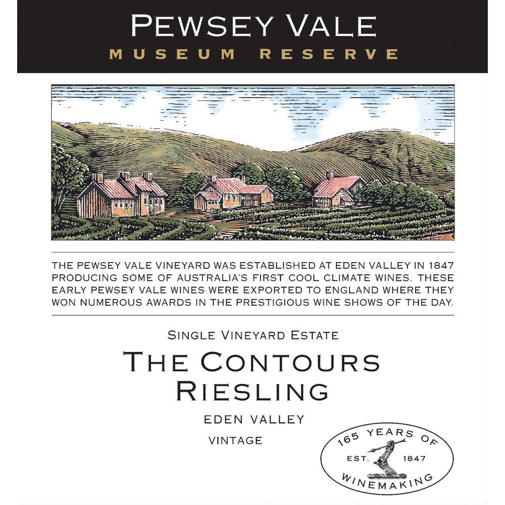 Pewsey Vale Museum Reserve The Contours Riesling 2010 Front Label