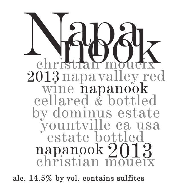 Dominus Napanook Vineyard (375ML half-bottle) 2013 Front Label
