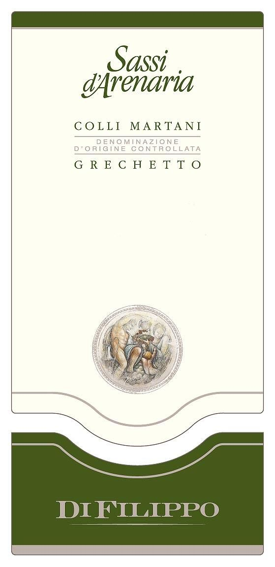 Di Filippo Colli Martani Sassi d'Arenaria Grechetto 2015 Front Label