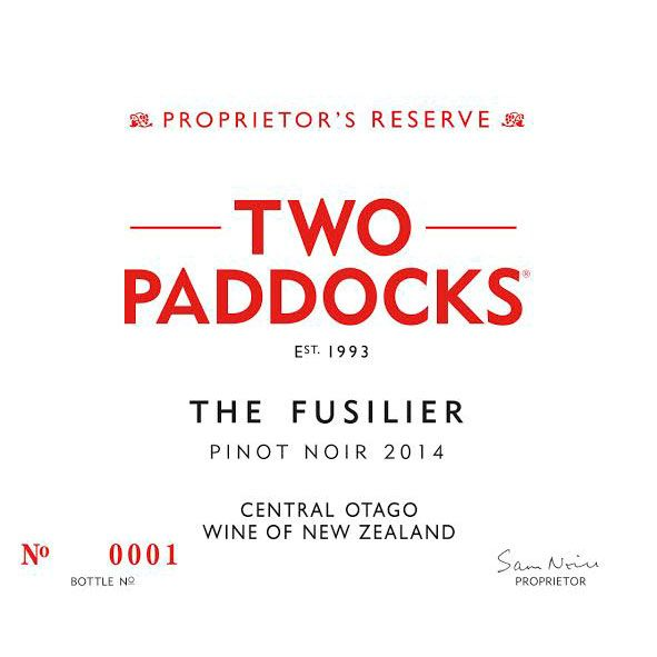 Two Paddocks Fusilier Pinot Noir 2014 Front Label
