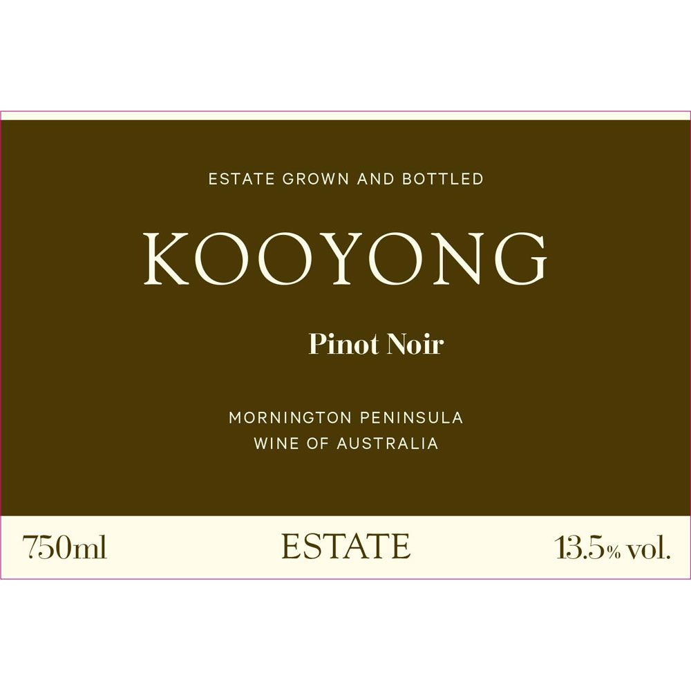 Kooyong Estate Pinot Noir 2012 Front Label