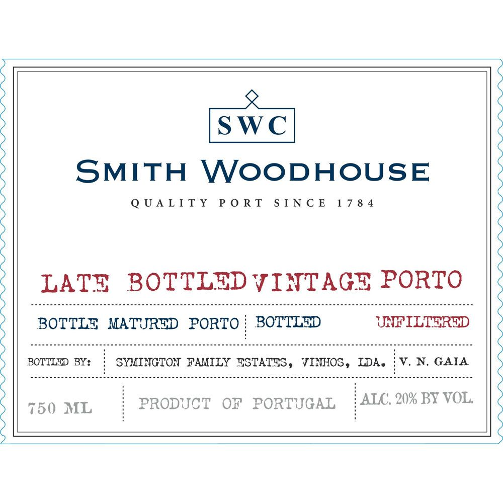 Smith Woodhouse Late Bottled Vintage Port 2001 Front Label