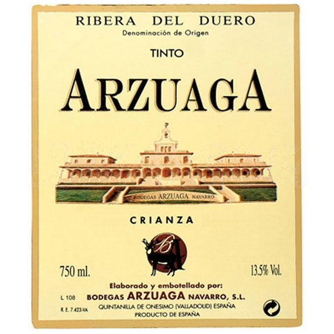 Arzuaga Crianza (375ML half-bottle) 2013 Front Label