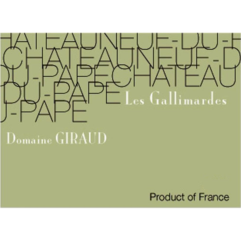 Domaine Giraud Chateauneuf-du-Pape Gallimardes Blanc 2013 Front Label