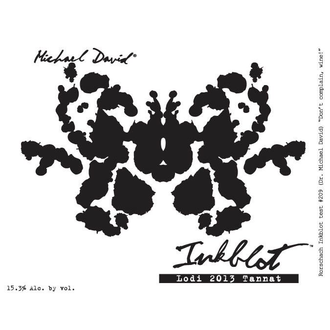 Michael David Winery Inkblot Tannat 2013 Front Label
