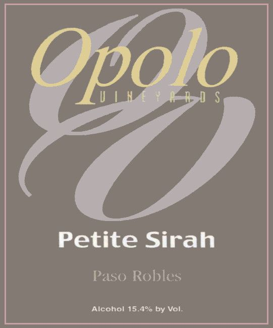 Opolo Petite Sirah 2013 Front Label