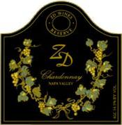 ZD Wines Reserve Chardonnay 1997 Front Label