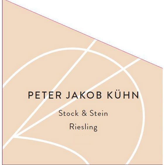 Peter Jakob Kuhn Stock and Stein Trocken Riesling 2014 Front Label