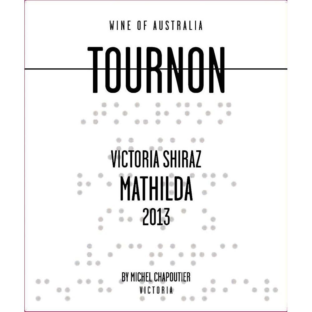 Tournon Mathilda Shiraz 2013 Front Label