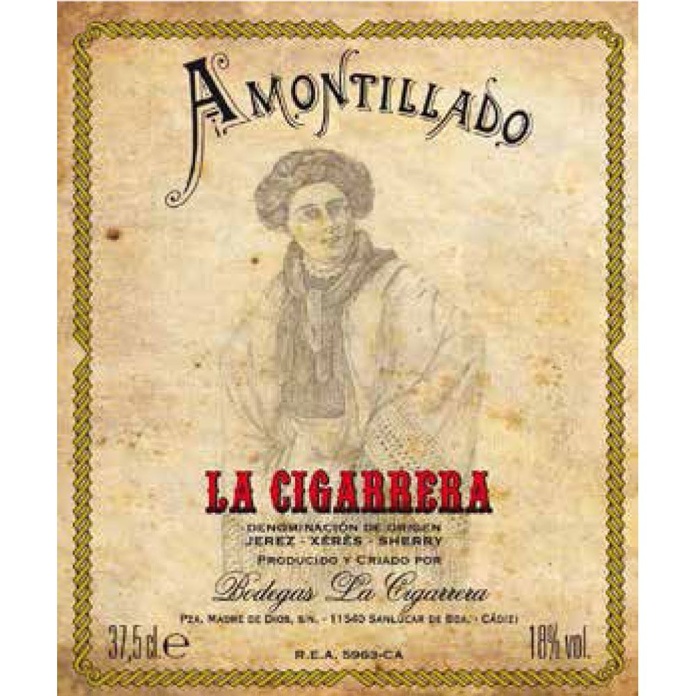 La Cigarrera Amontillado Viejo Sherry (375ML half-bottle) Front Label