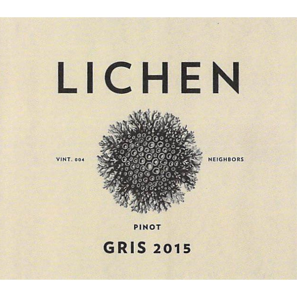Lichen Pinot Gris 2015 Front Label