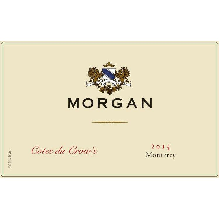 Morgan Cotes du Crow's 2015 Front Label