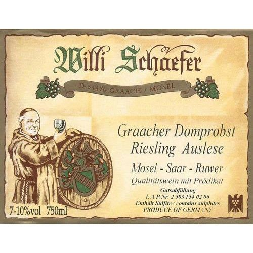 Weingut Willi Schaefer Graacher Domprobst Riesling Auslese A P #1403 (375ml half-bottle) 2002 Front Label