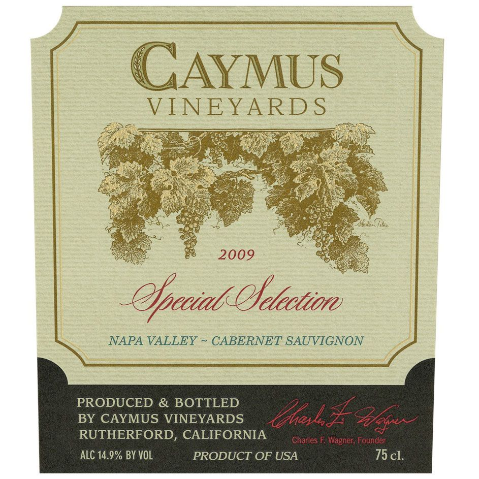 Caymus Special Selection Cabernet Sauvignon (1.5 Liter Magnum) 2009 Front Label
