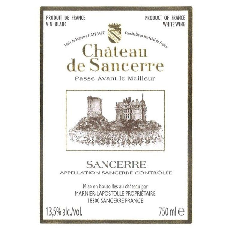 Chateau de Sancerre Blanc 2015 Front Label