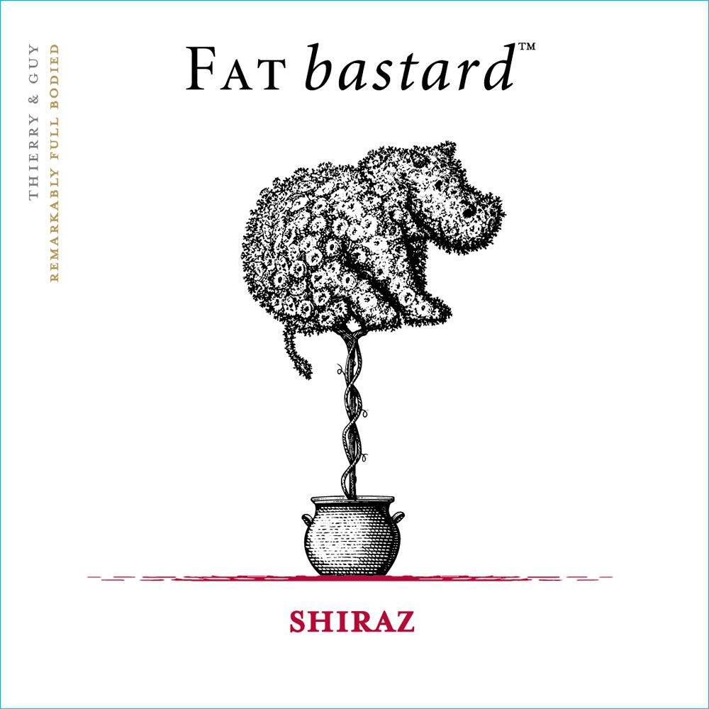 Fat Bastard Syrah 2015 Front Label