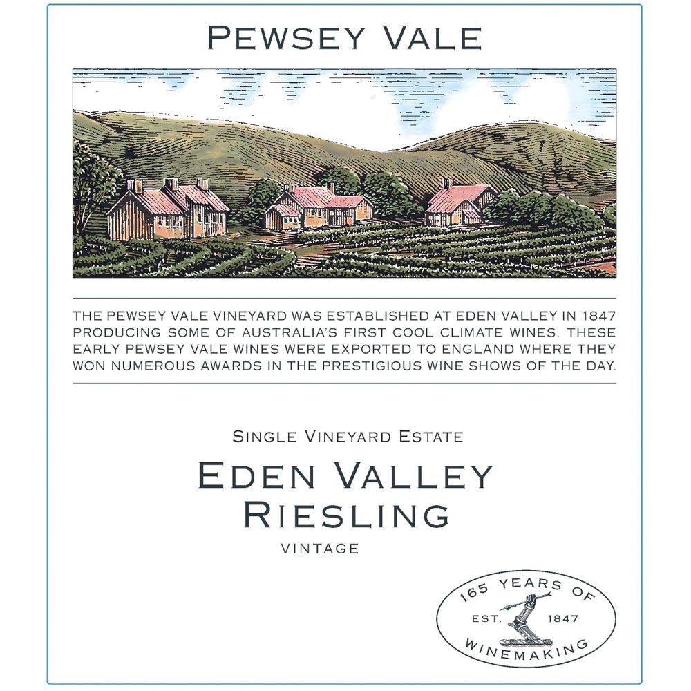 Pewsey Vale Eden Valley Riesling 2016 Front Label