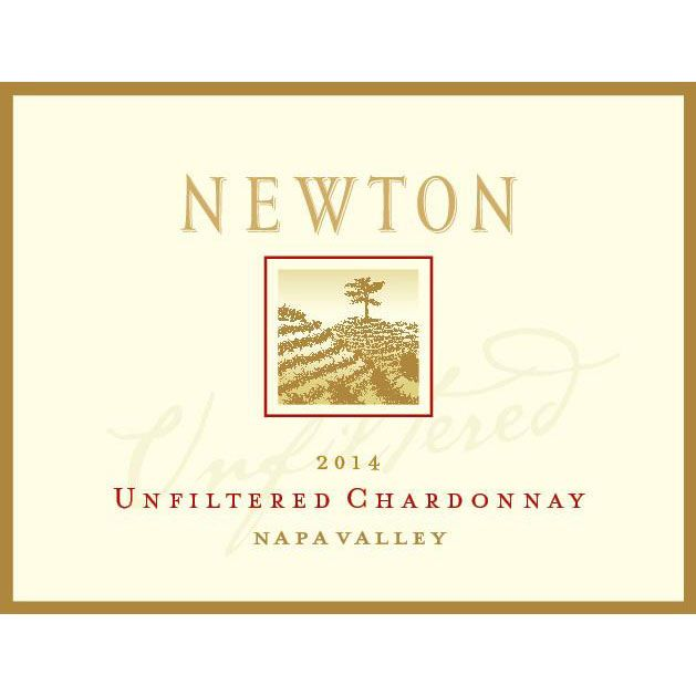 Newton Unfiltered Chardonnay 2014 Front Label