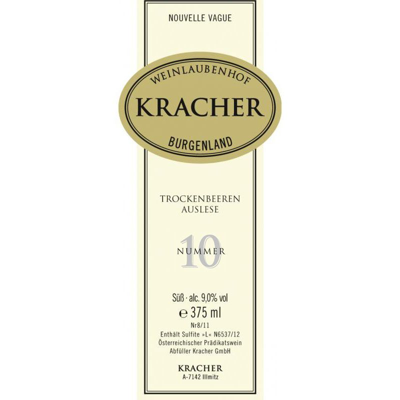 Kracher Welschriesling Nouvelle Vague Trockenbeerenauslese #10 (375ML half-bottle) 1999 Front Label