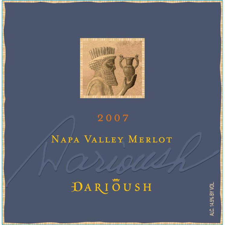 Darioush Signature Merlot 2007 Front Label
