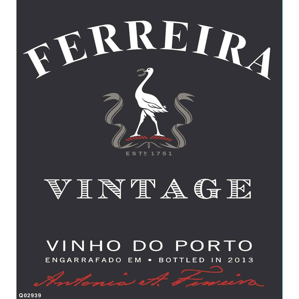 Ferreira Vintage Port 2007 Front Label