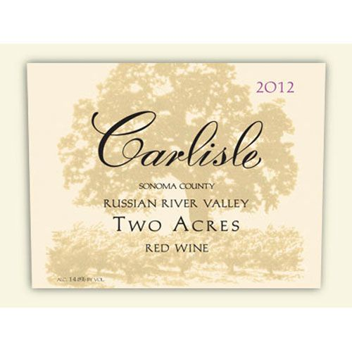 Carlisle Two Acres 2012 Front Label