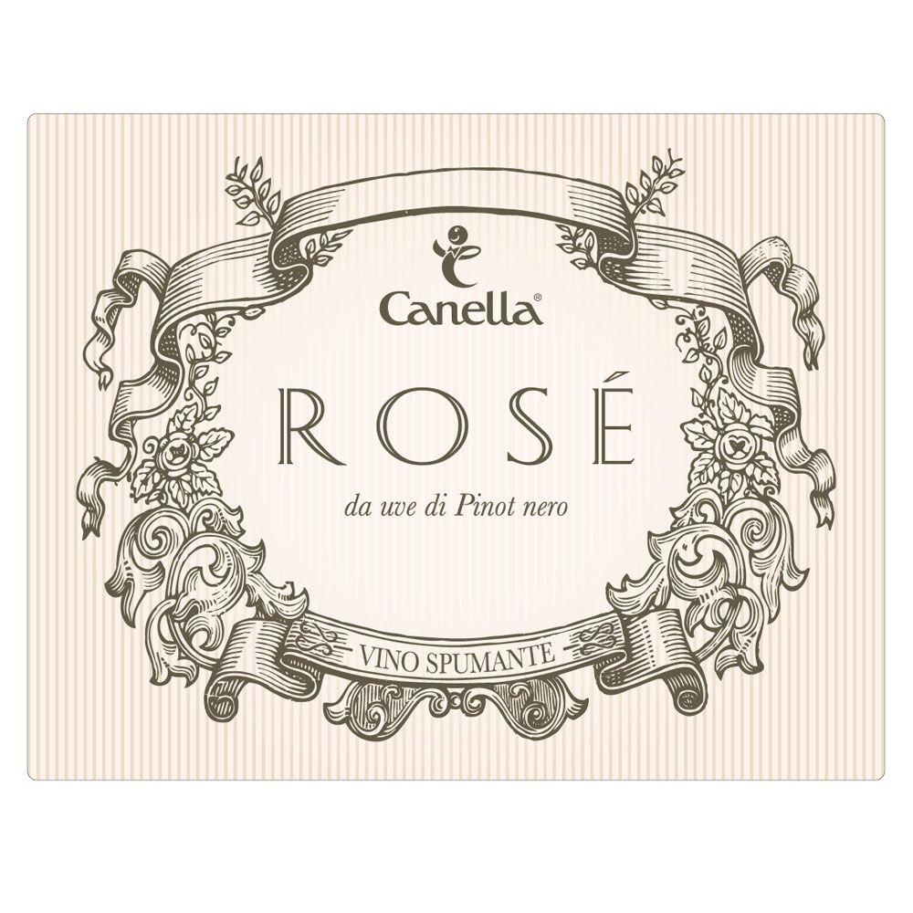 Canella Brut Rose Front Label