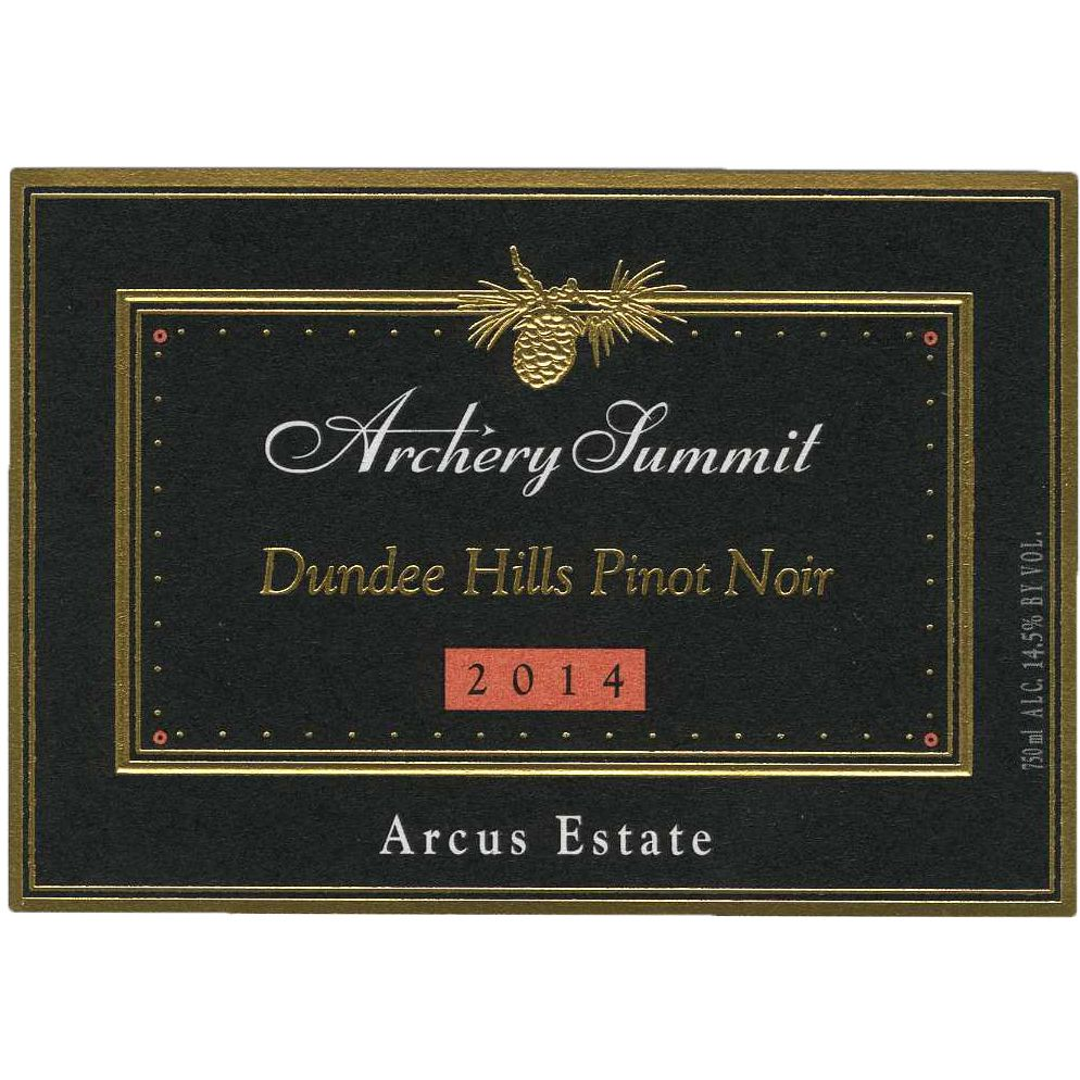 Archery Summit Arcus Pinot Noir 2014 Front Label