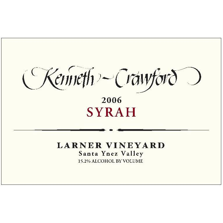 Kenneth-Crawford Larner Vineyard Syrah 2006 Front Label