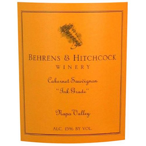 Behrens & Hitchcock Ink Grade Cabernet Sauvignon 2002 Front Label