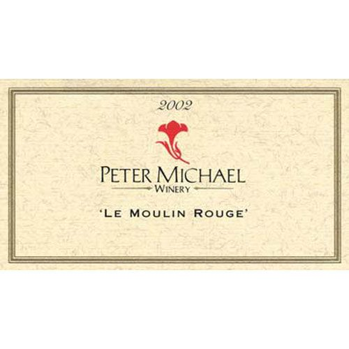 Peter Michael Le Moulin Rouge Pinot Noir 2002 Front Label