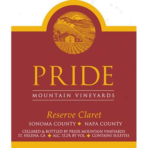 Pride Mountain Vineyards Reserve Claret (scuffed labels) 2013 Front Label