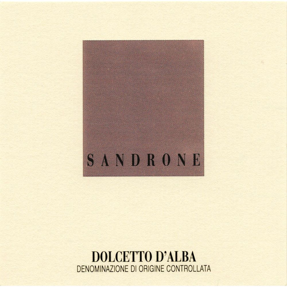 Sandrone Dolcetto d'Alba 2015 Front Label