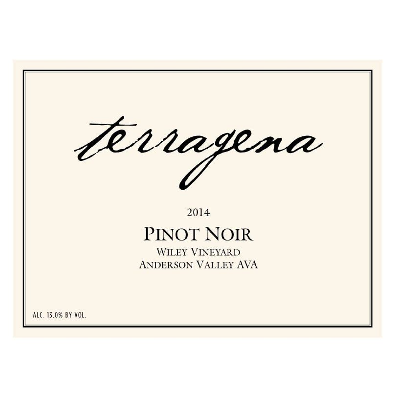 Terragena Wiley Vineyard Pinot Noir 2014 Front Label