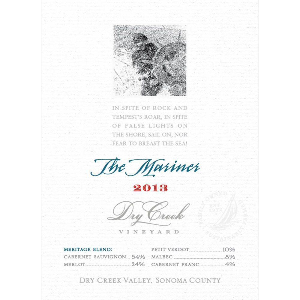 Dry Creek Vineyard The Mariner 2013 Front Label