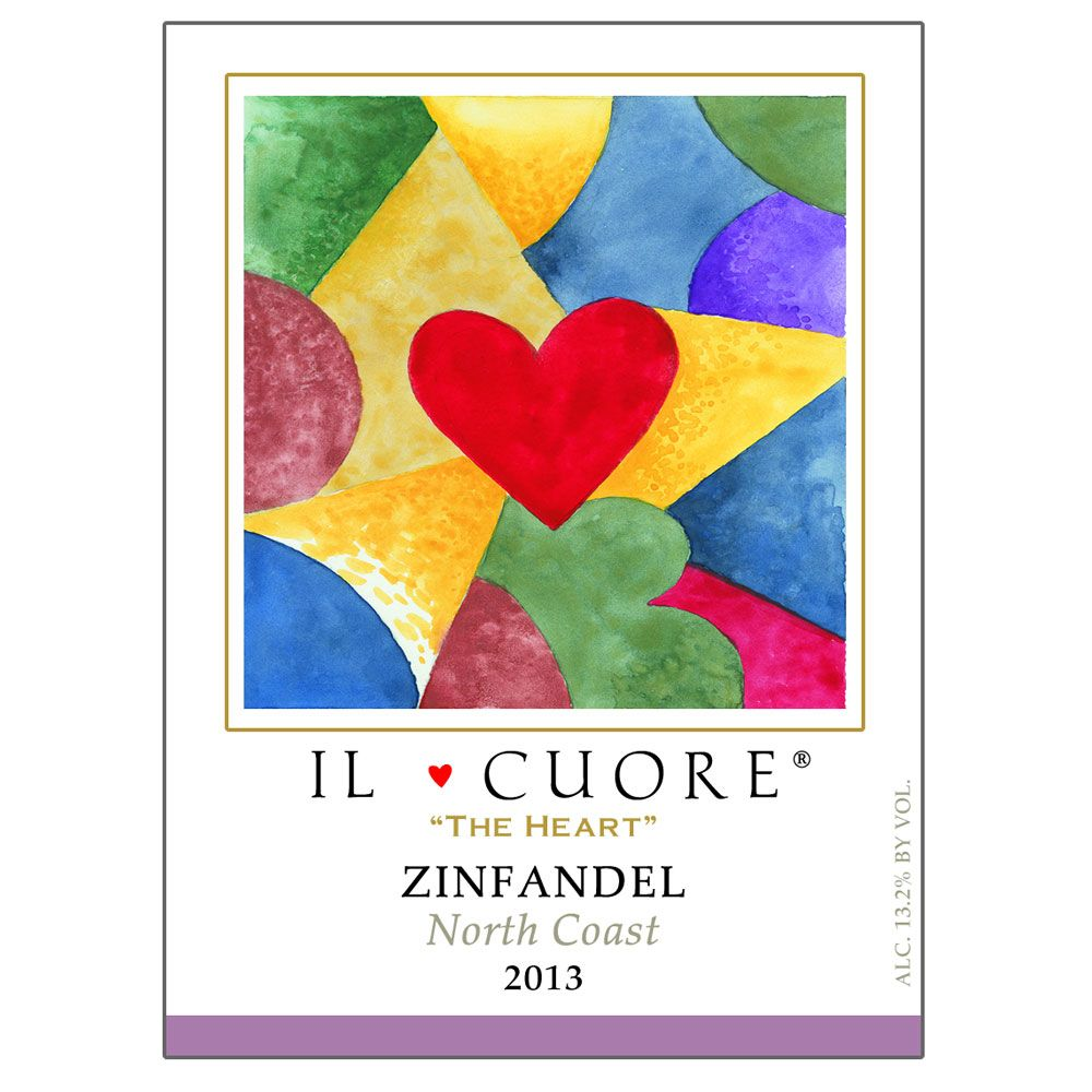 Il Cuore The Heart Zinfandel 2013 Front Label