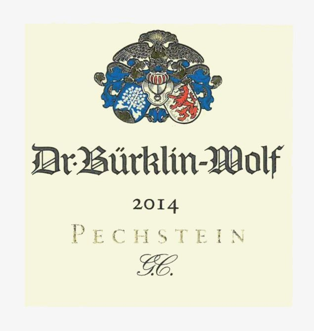 Burklin-Wolf Forster Pechstein G.C. Dry Riesling 2014 Front Label