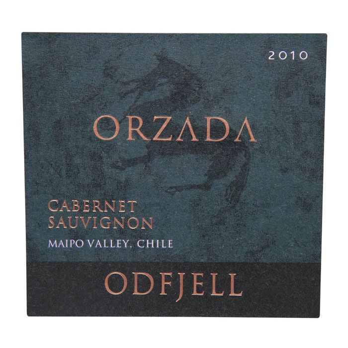 Odfjell Orzada Organic Carignan 2010 Front Label