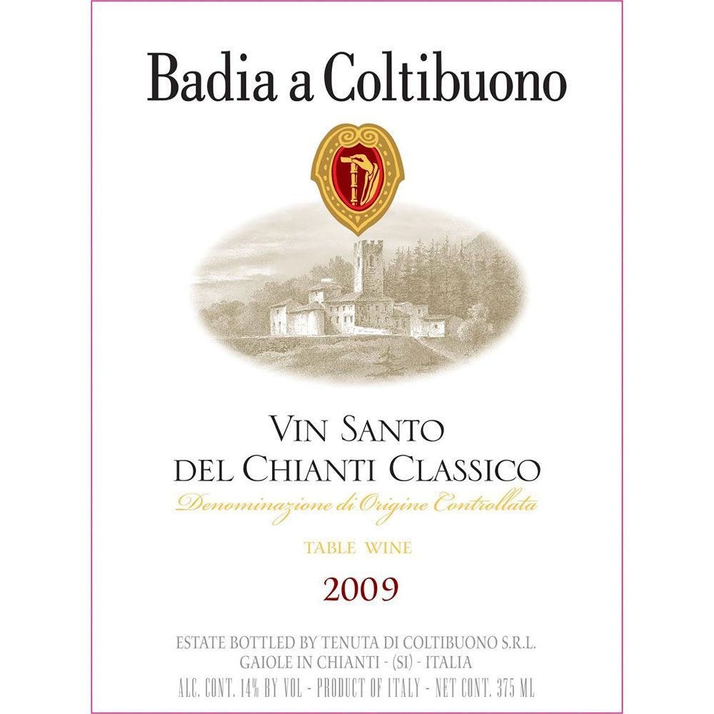 Badia a Coltibuono Vin Santo (375ML half-bottle) 2009 Front Label