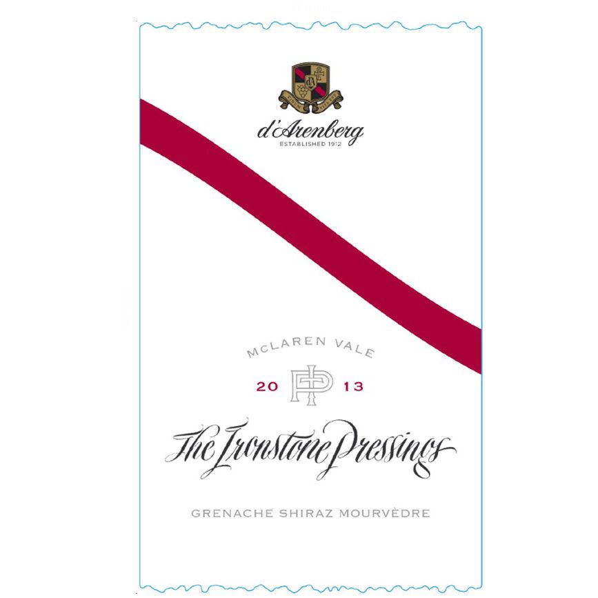 d'Arenberg The Ironstone Pressings 2013 Front Label
