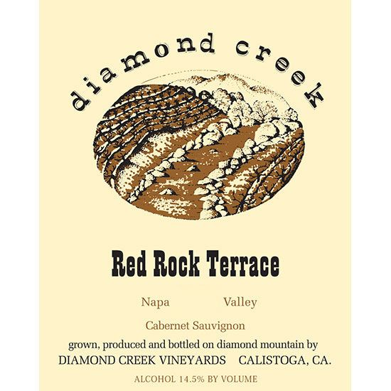 Diamond Creek Red Rock Terrace Cabernet Sauvignon 2014 Front Label