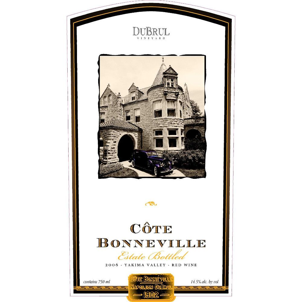 Cote Bonneville Dubrul Vineyard Red Blend 2006 Front Label